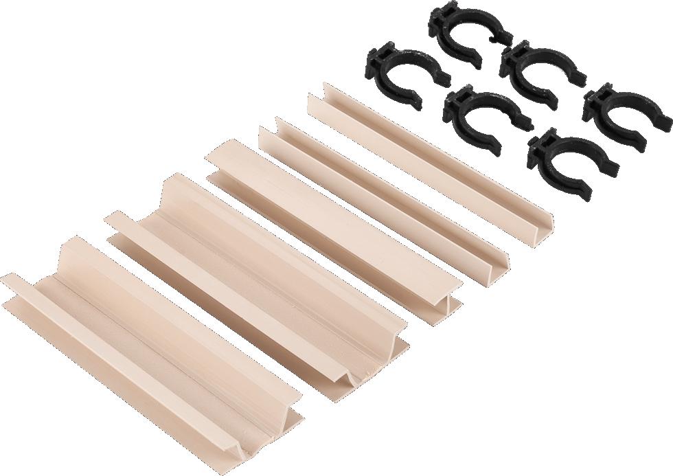 Комплект для установки кухонного цоколя, 190 мм, ПВХ, цвет бежевый