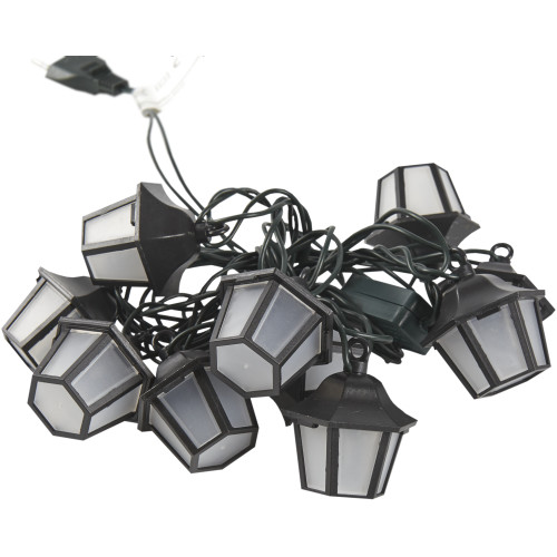 Электрогирлянда светодиодная «Фонарики» для дома 10 ламп 1.8 м, цвет тёплый белый