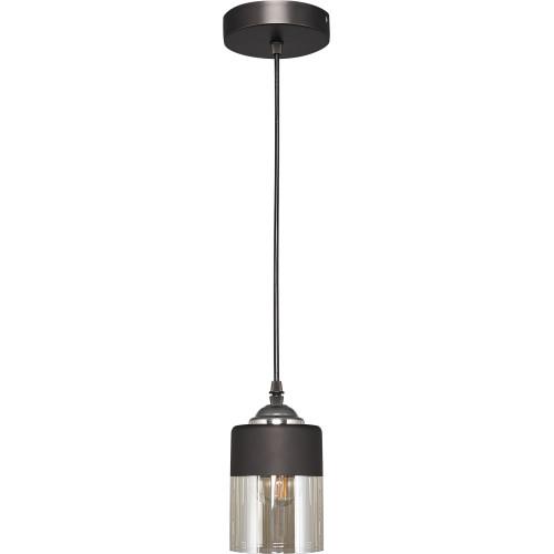 Светильник подвесной «Kenny» 3109/1P, 1 лампа, 3 м², цвет чёрный/хром