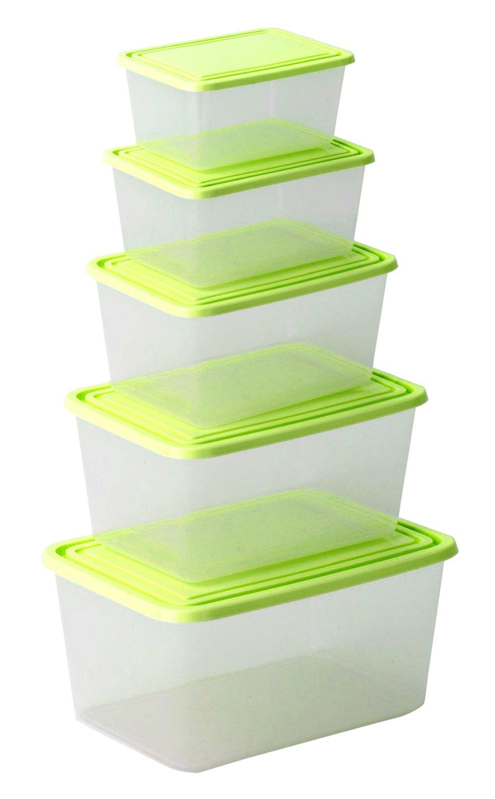 Набор контейнеров для хранения продуктов, 5 шт.