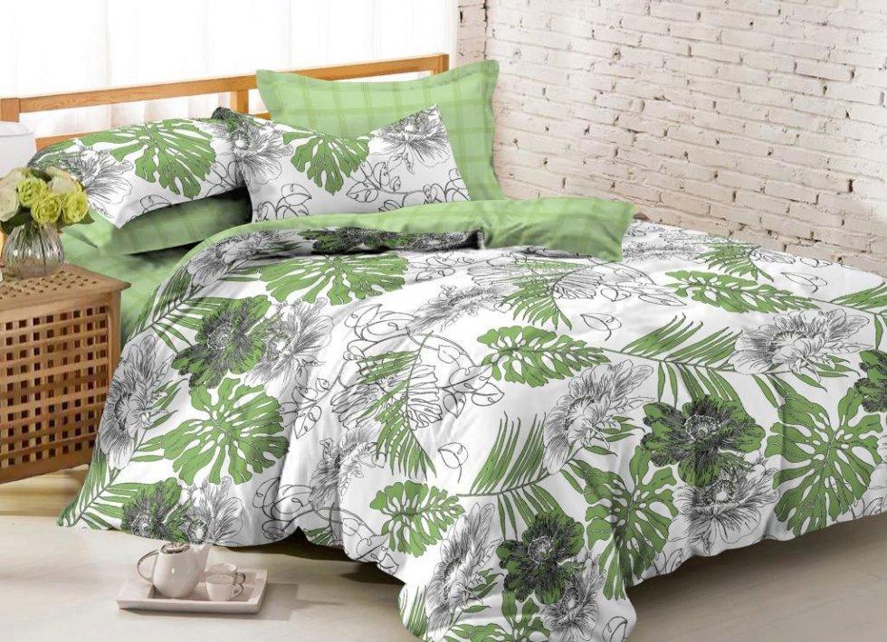 Комплект постельного белья «Джангл», 2-спальный, сатин