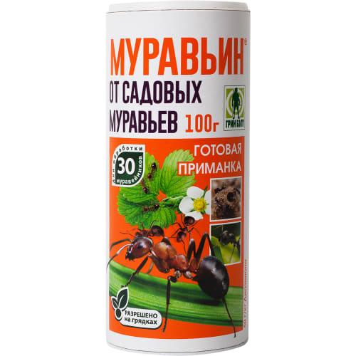 Средство для защиты садовых растений от вредителей «Муравьин» 100 г