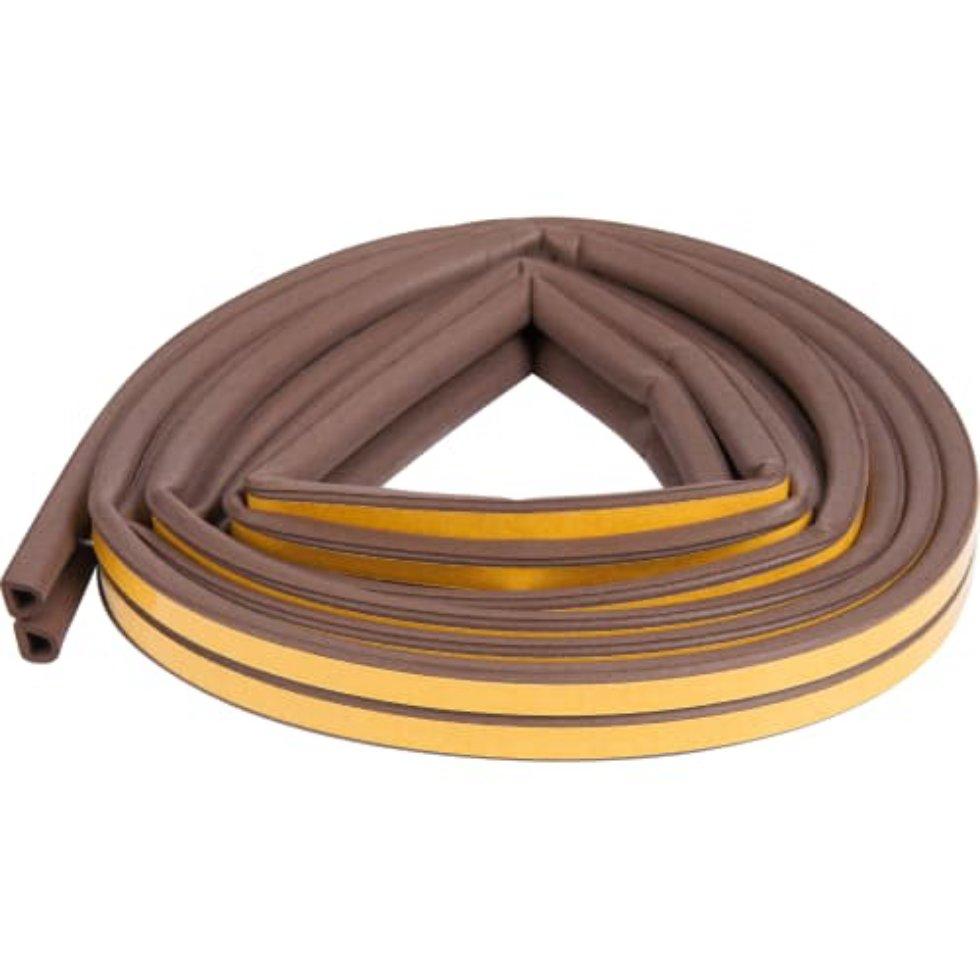Уплотнитель для окон и дверей Axton D-профиль 6 м, цвет коричневый