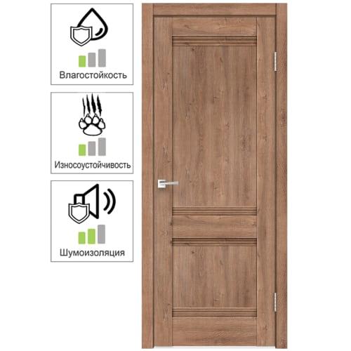 Дверь межкомнатная глухая «Тоскана», 70x200 см, цвет дуб бельмонт, с фурнитурой
