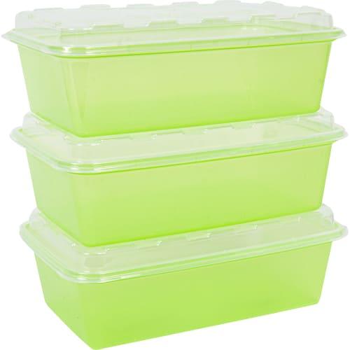 Набор контейнеров для заморозки Zip 0.9 л цвет зелёный