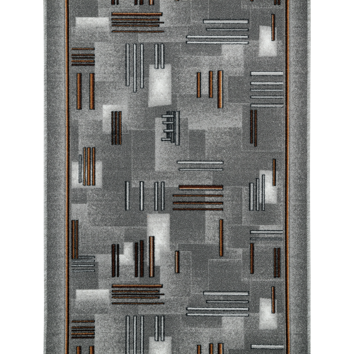 Дорожка ковровая «Валенсия» 1 м, цвет серый/красный