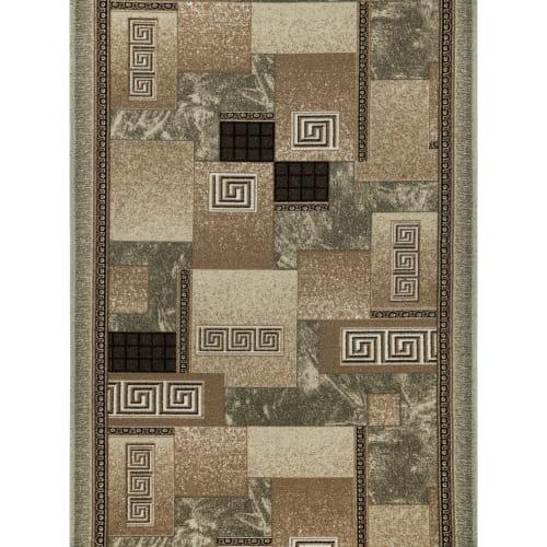 Дорожка ковровая «Вена» 1 м, цвет серый/коричневый/чёрный