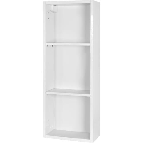 Каркас шкафа подвесного Смарт 30х80х15 см с двумя полками цвет белый