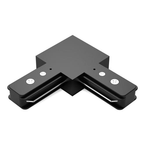 Коннектор для соединения трековых шинопроводов Gauss L-образный, цвет чёрный