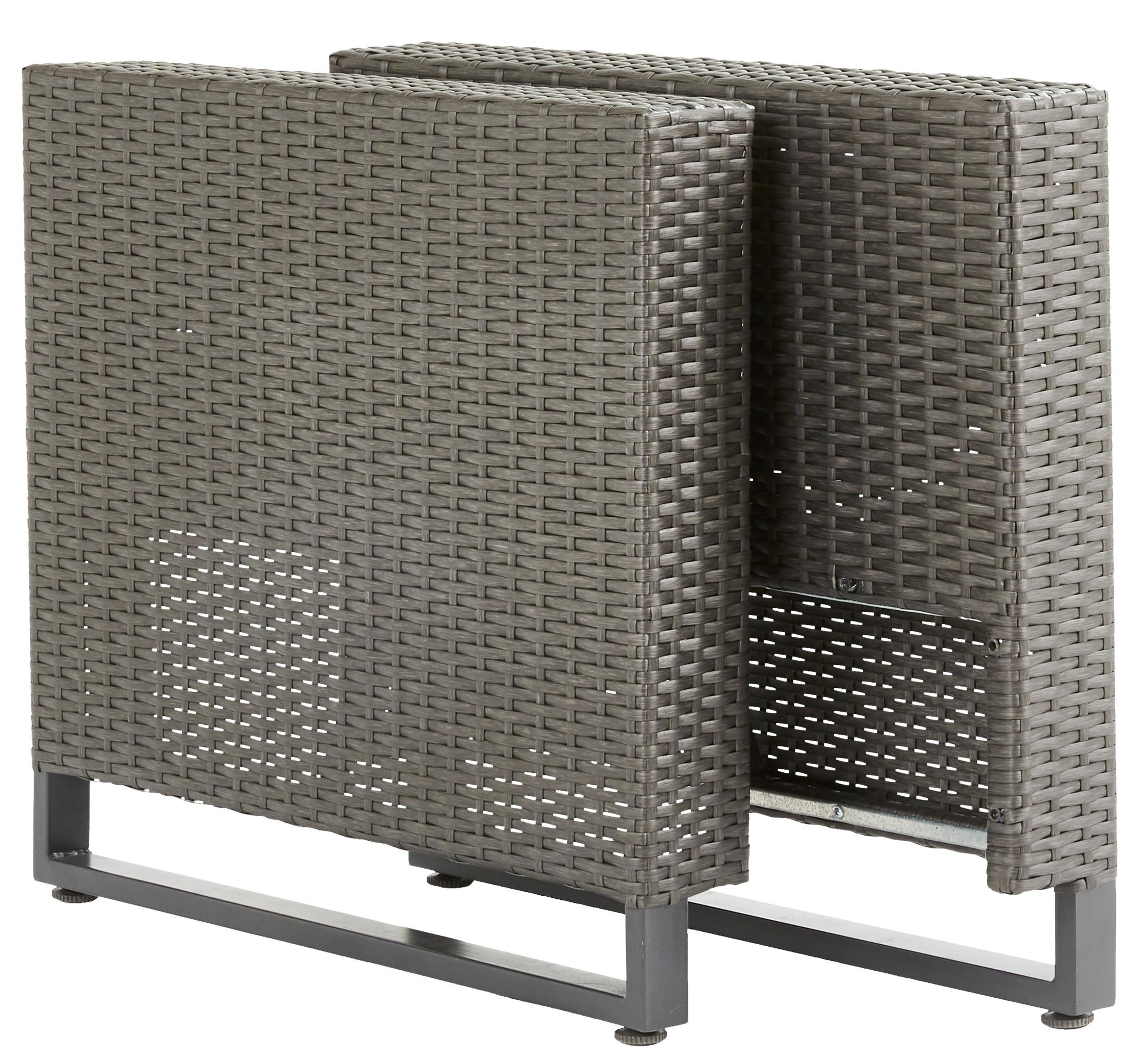 Подлокотник для садовой мебели Naterial Noa Fix 10x62x10 см ротанг серый 2 шт