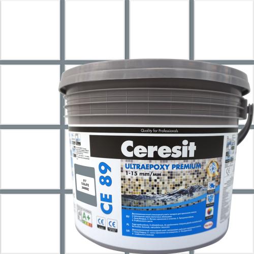 Затирка эпоксидная Ceresit CE89 цвет темно-серый 2.5 кг
