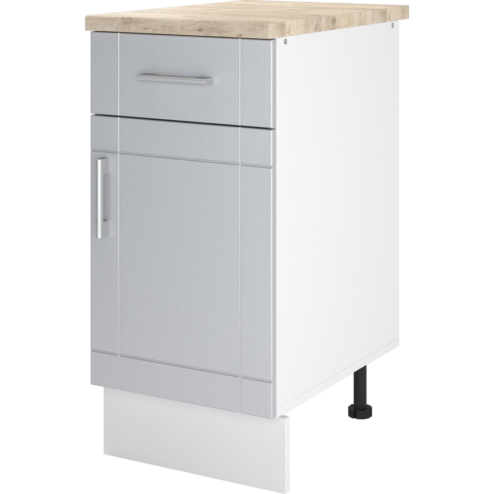 """Шкаф напольный """"Тортора"""" с одним ящиком 40x86x60 см, МДФ, цвет серый"""