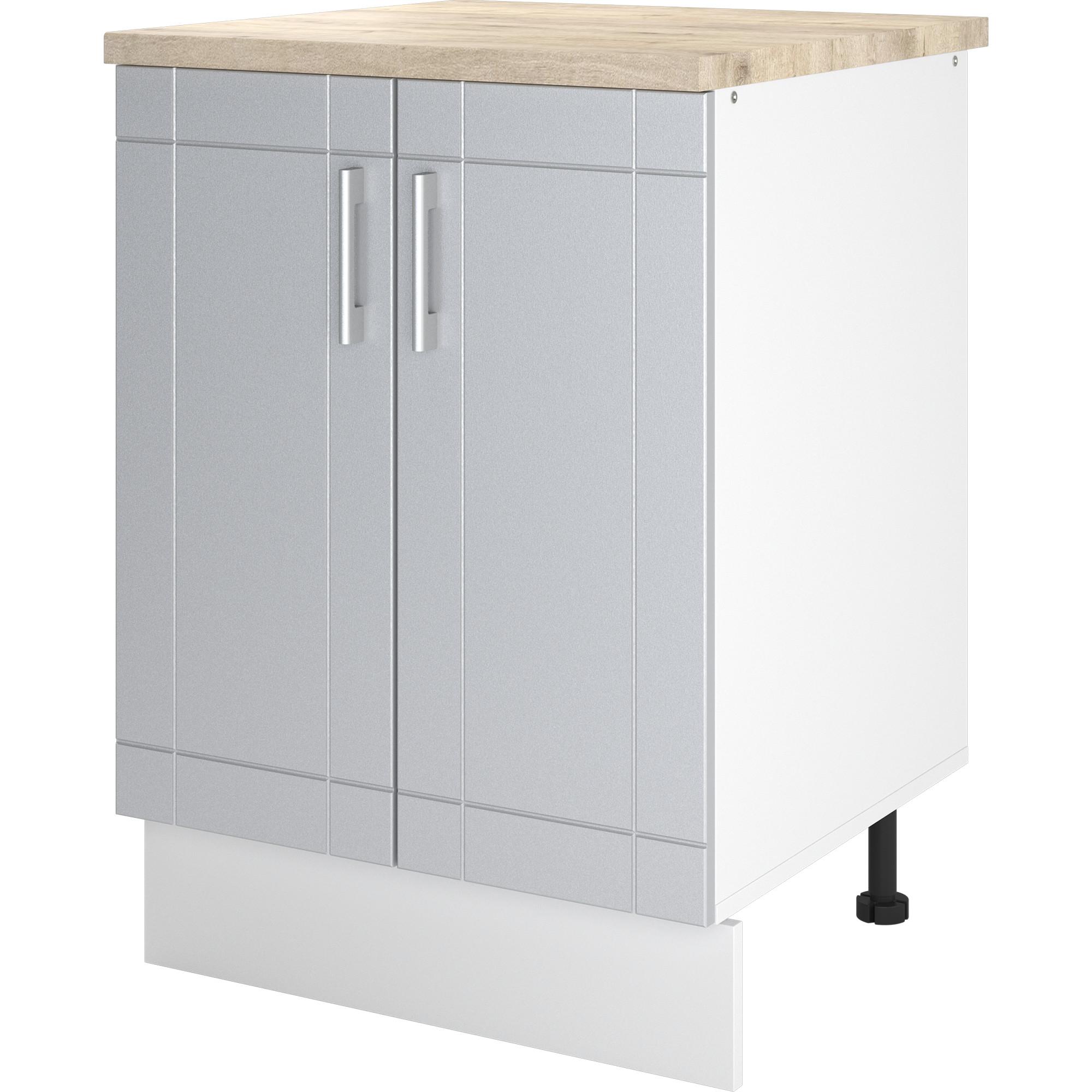 """Шкаф напольный """"Тортора"""" 60x84x60 см, МДФ, цвет серый"""