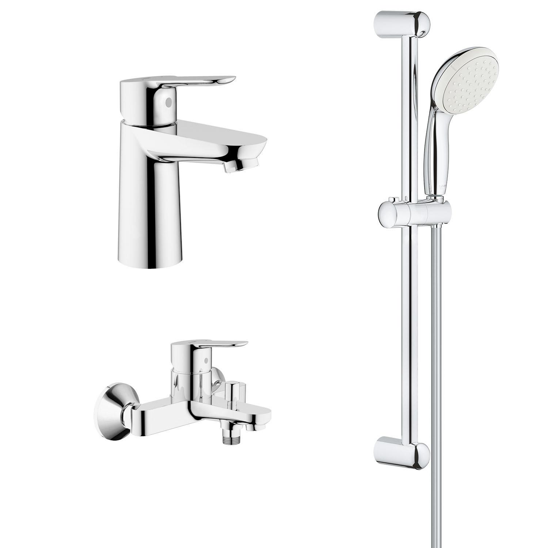 Набор смесителей для ванной комнаты и душевой комплект Grohe StartEdge 1 режим