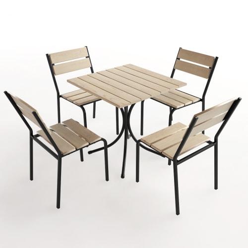 Набор садовой мебели Forest дерево: стол и 4 стула