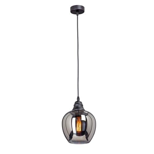 Люстра подвесная «Маяк», 1 лампа, 3 м², цвет чёрный