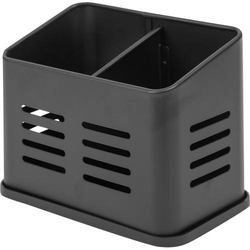 Подставка для столовых приборов 12х12х13.5 см, цвет чёрный