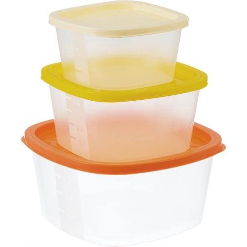 Набор контейнеров для пищевых продуктов Hitt Rainbow, 3 шт