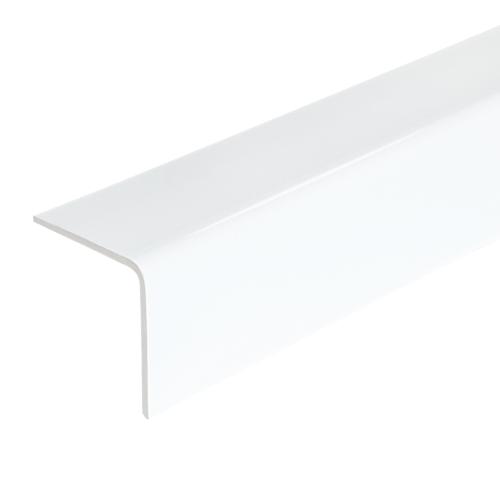Уголок ПВХ наружный 25x25x2700 мм керамика белый