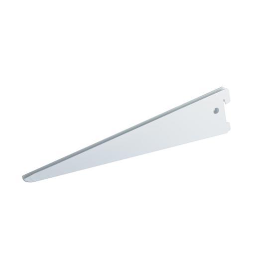 Кронштейн прямой двухрядный Spaceo 27 см, нагрузка до 55 кг, цвет белый, 10 шт.