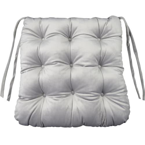 Сидушка для стула «Бархат» 40x36 см цвет серый