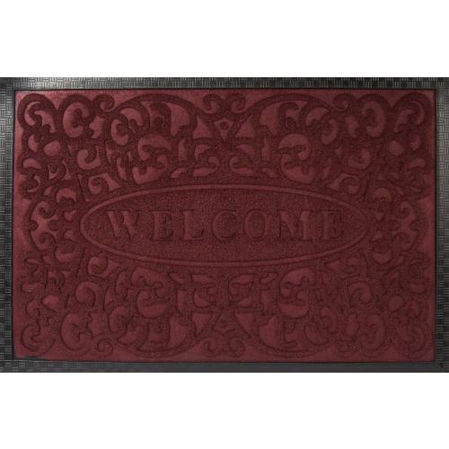 Коврик Inspire Lenzo 40x60 см, полиэфир/резина, цвет бордовый