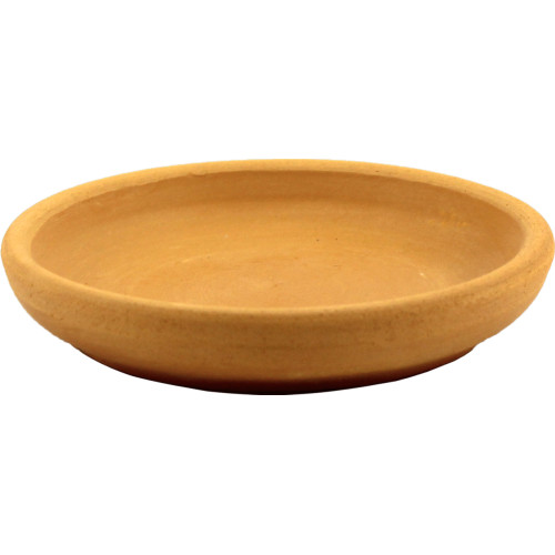 Поддон для горшка Ø12 см, глина, цвет коричневый