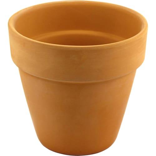 Горшок цветочный Ø11 см, 0.4 л, глина, цвет коричневый