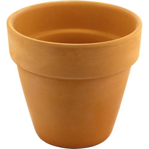 Горшок цветочный Ø19 см, 1.8 л, глина, цвет коричневый