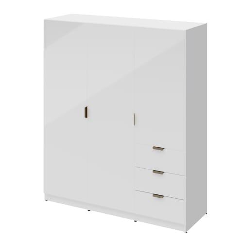 Шкаф распашной Турин 3523 180x213x59.7 см, ЛДСП, цвет белый