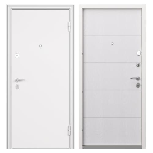 Дверь входная металлическая Белла, 860 мм, левая, цвет беленый дуб