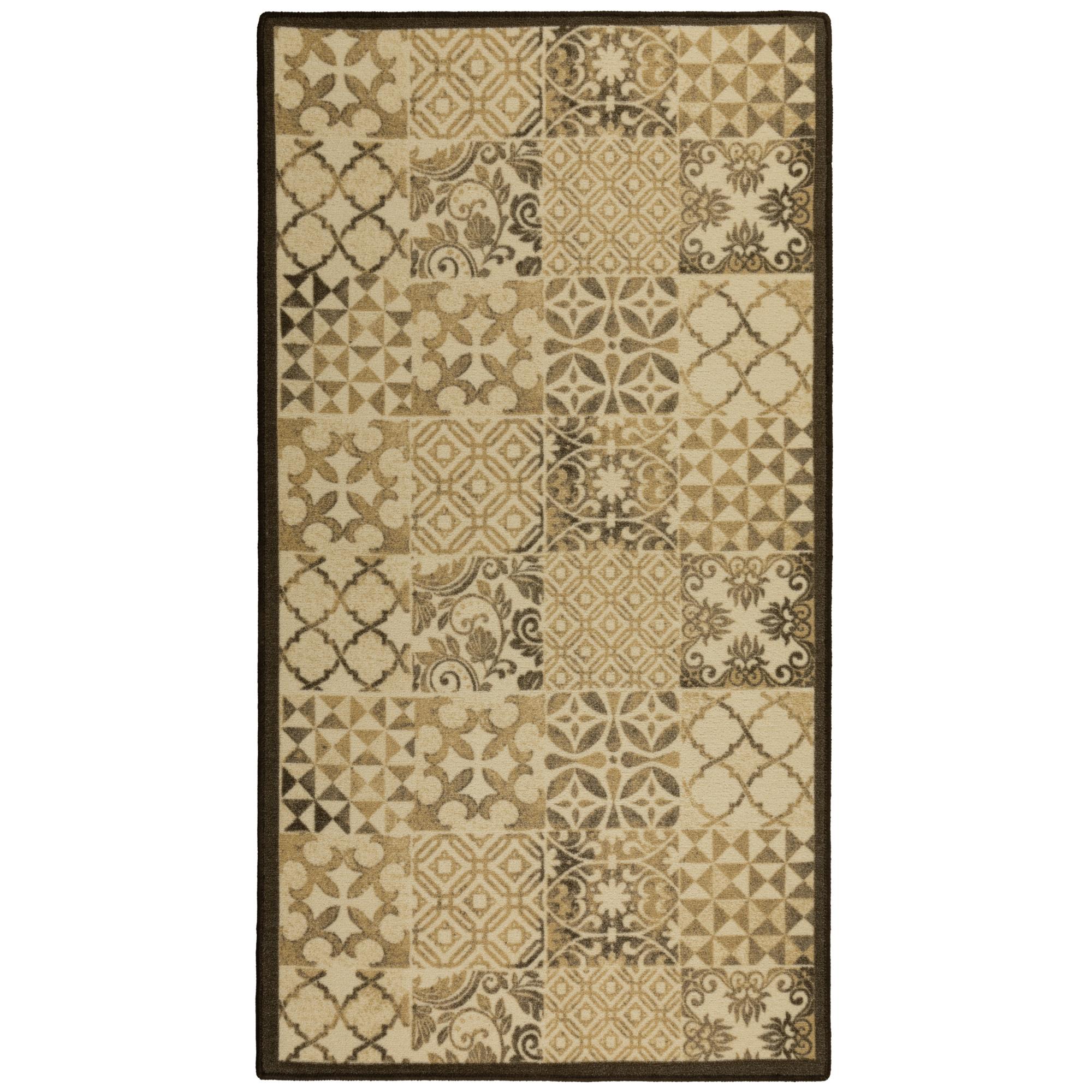 Ковер полиамид Принт Кассино 100x180 см, цвет коричневый