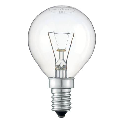 Лампа накаливания E14 220-240 В 25 Вт шар прозрачная 200 лм, тёплый белый свет