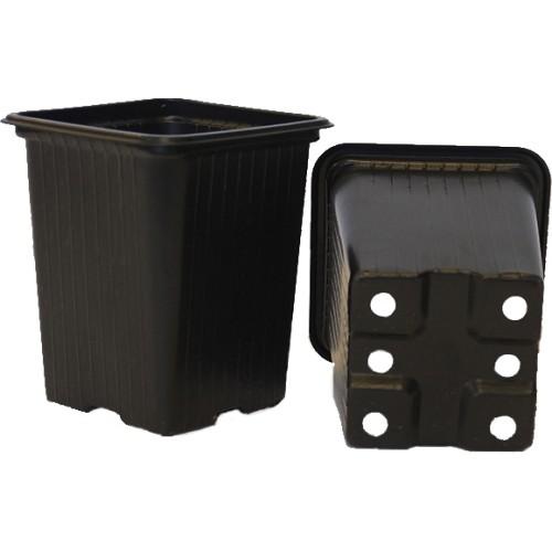Горшок для рассады 7x7 см, 0.23 л, пластик, черный