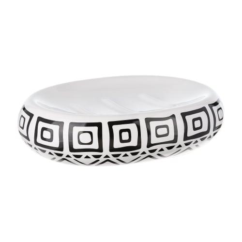 Мыльница Moroshka Nomads керамика цвет белый/чёрный