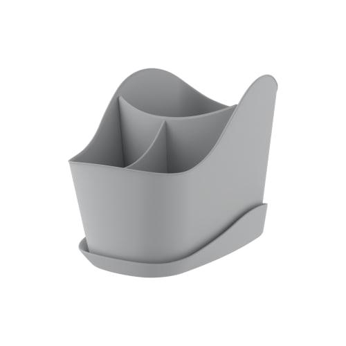 Сушилка для столовых приборов Teo 126x137x203 мм, цвет серый
