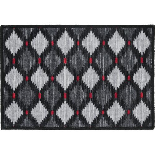 Коврик «Стелла» 40x60 см, полипропилен/резина, цвет серый