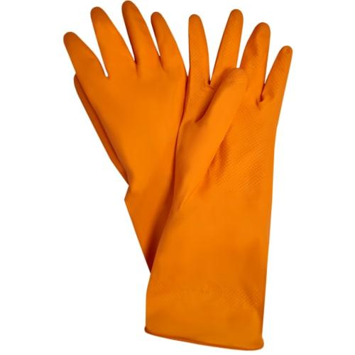 Перчатки Фрекен Бок «Оптима» латексные с хлопковым напылением, размер M