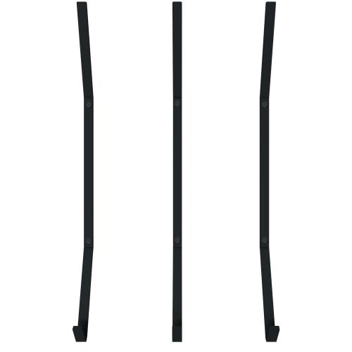 Крючок для ванной вертикальный Март Ferro металл цвет чёрный 3 шт.