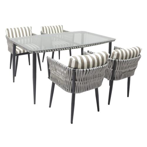Набор садовой мебели TINTO-1, 1 стол и 4 стула