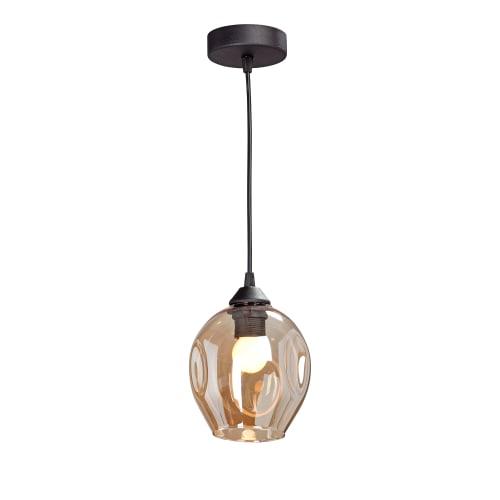 Люстра Vitaluce Фабио, 1 лампа, 3 м², цвет черный/бесцветный