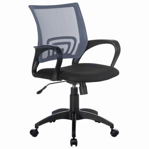 Кресло Brabix Fly Mg-396, с подлокотниками, сетка, серое/черное, 532085