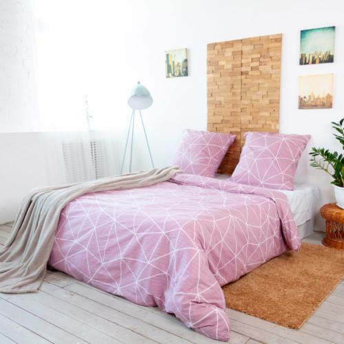 Комплект постельного белья «Грань» двуспальный, поплин, 70x70 см