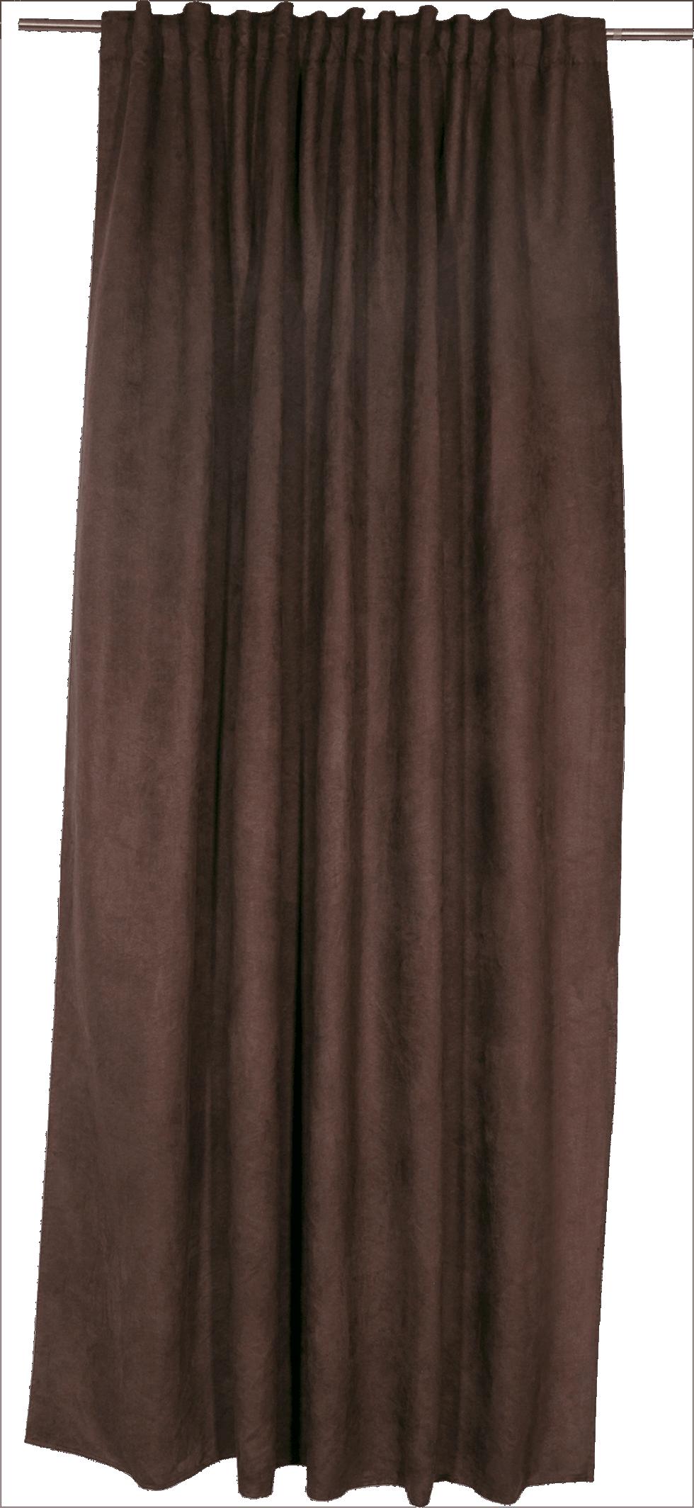 Штора на ленте «Нью Манчестер», 200х280 см, цвет шоколадный