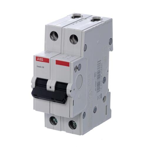Автоматический выключатель ABB двухполюсный C 32А 4.5кА Basic M BMS412C32