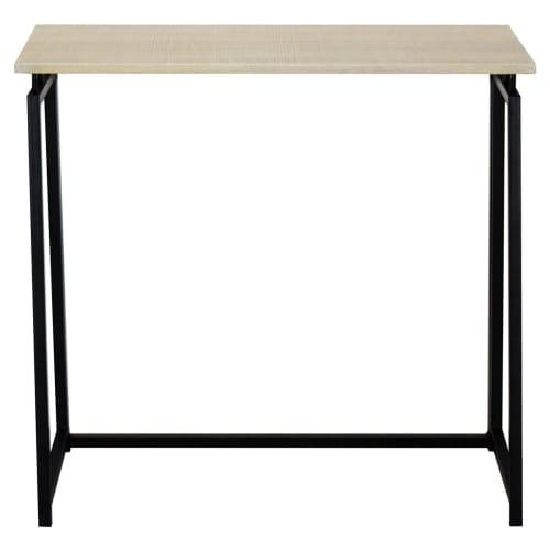 Стол на металлокаркасе BRABIX LOFT CD-001 800х440х740 см складной, цвет дуб натуральный