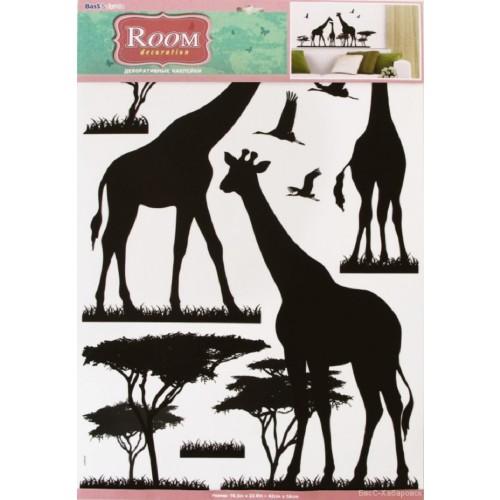 Декоративная наклейка для стены Room decoration Жирафы 9503