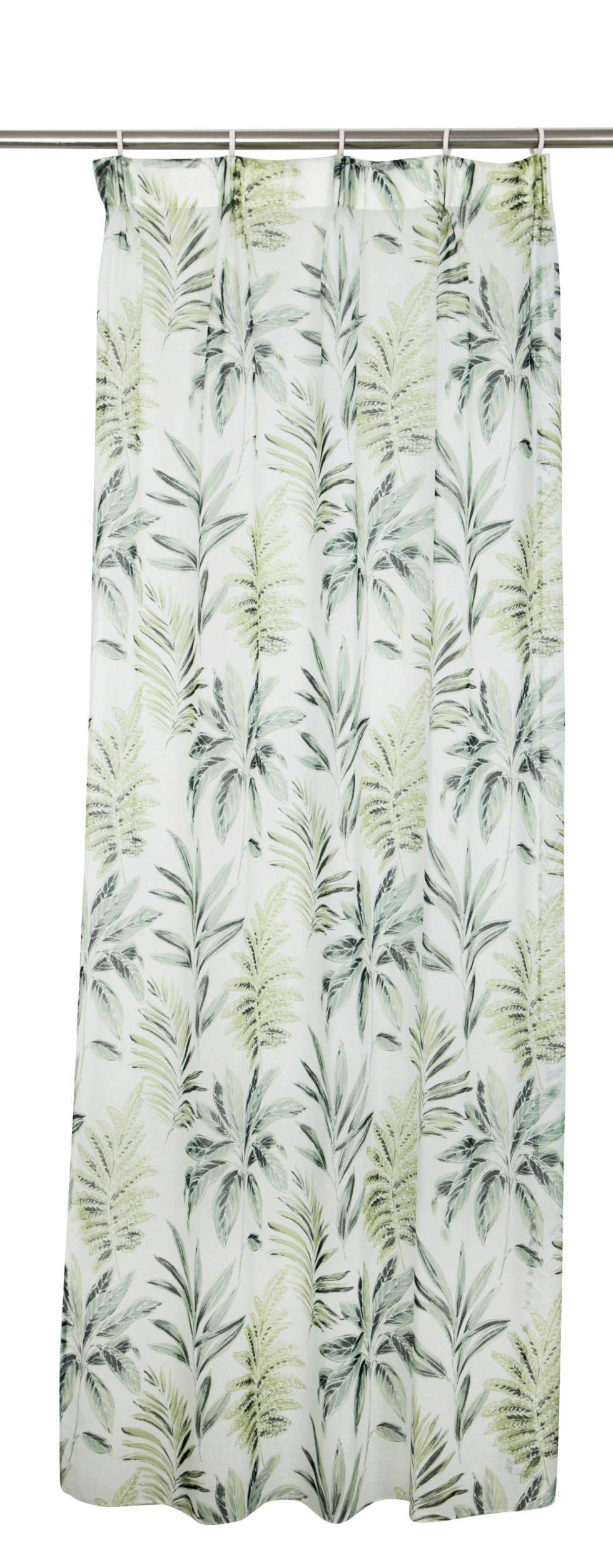 Тюль на ленте «Leaves», 160х260 см, вуаль, цвет зелёный
